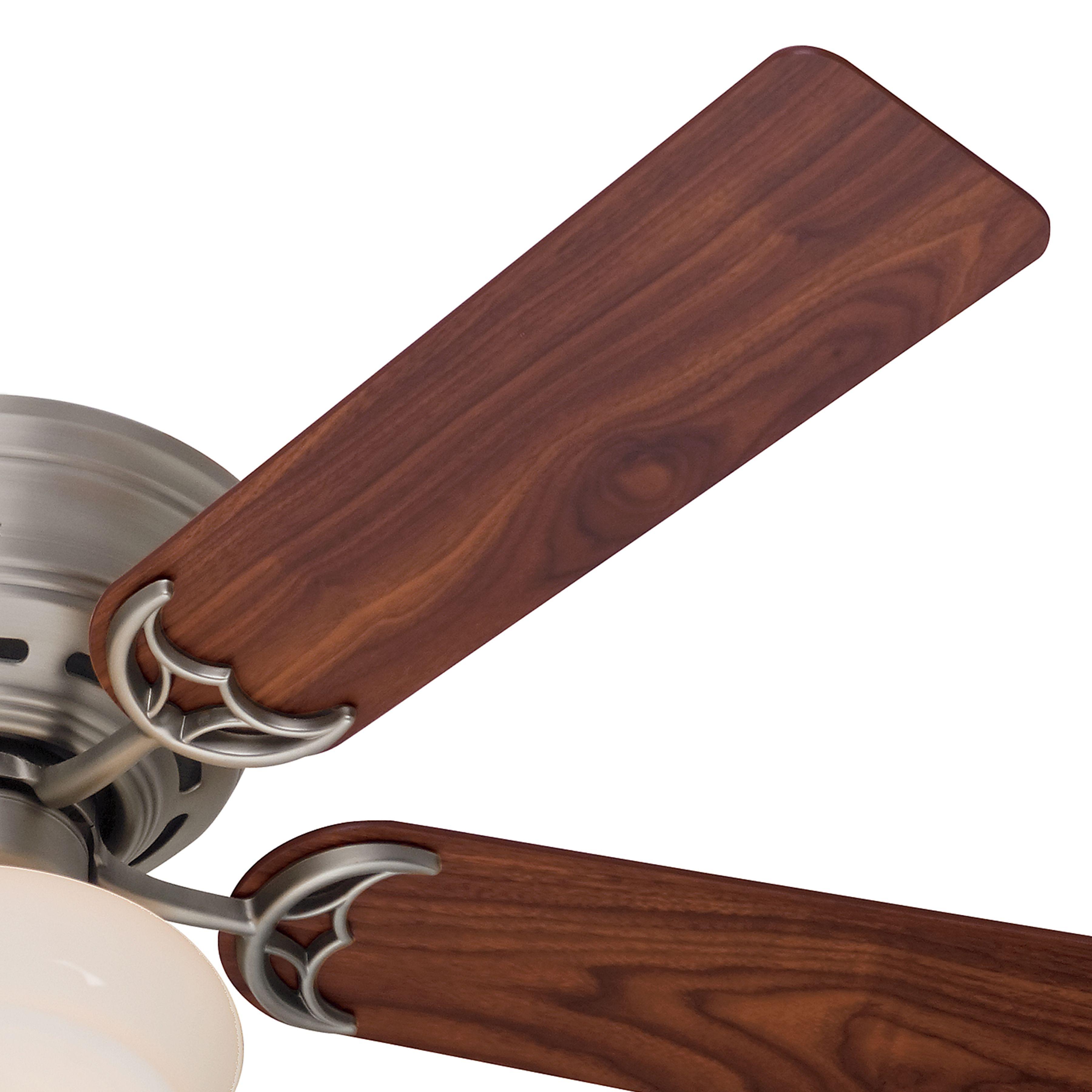 Hunter 52 Inch antique pewter finsh low profile Ceiling Fan