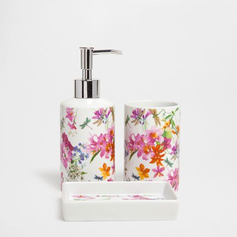 Floral Transfer Bathroom Set - Accessories - Bathroom | Zara Home United Kingdom