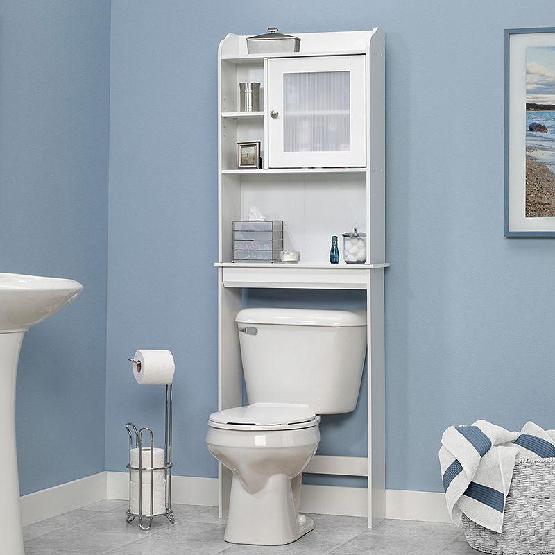 Sauder Caraway Bathroom Floor Cabinet White Bathroom Floor