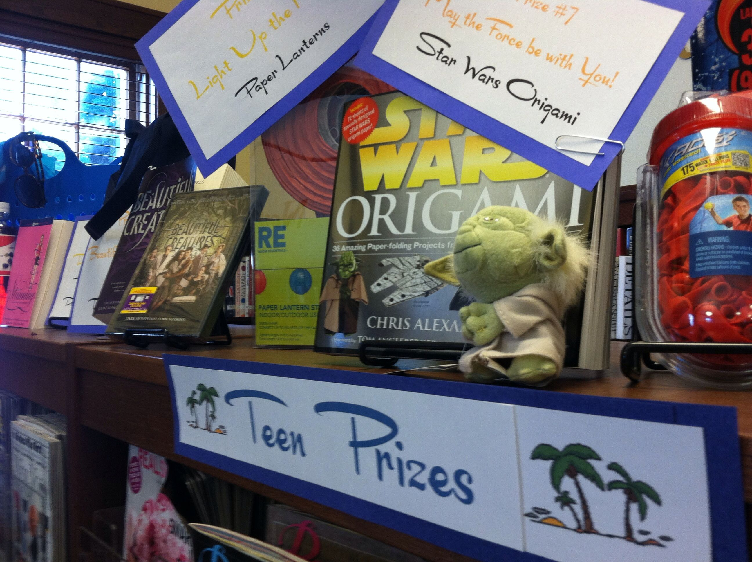 Ideas for summer reading prizes for teens