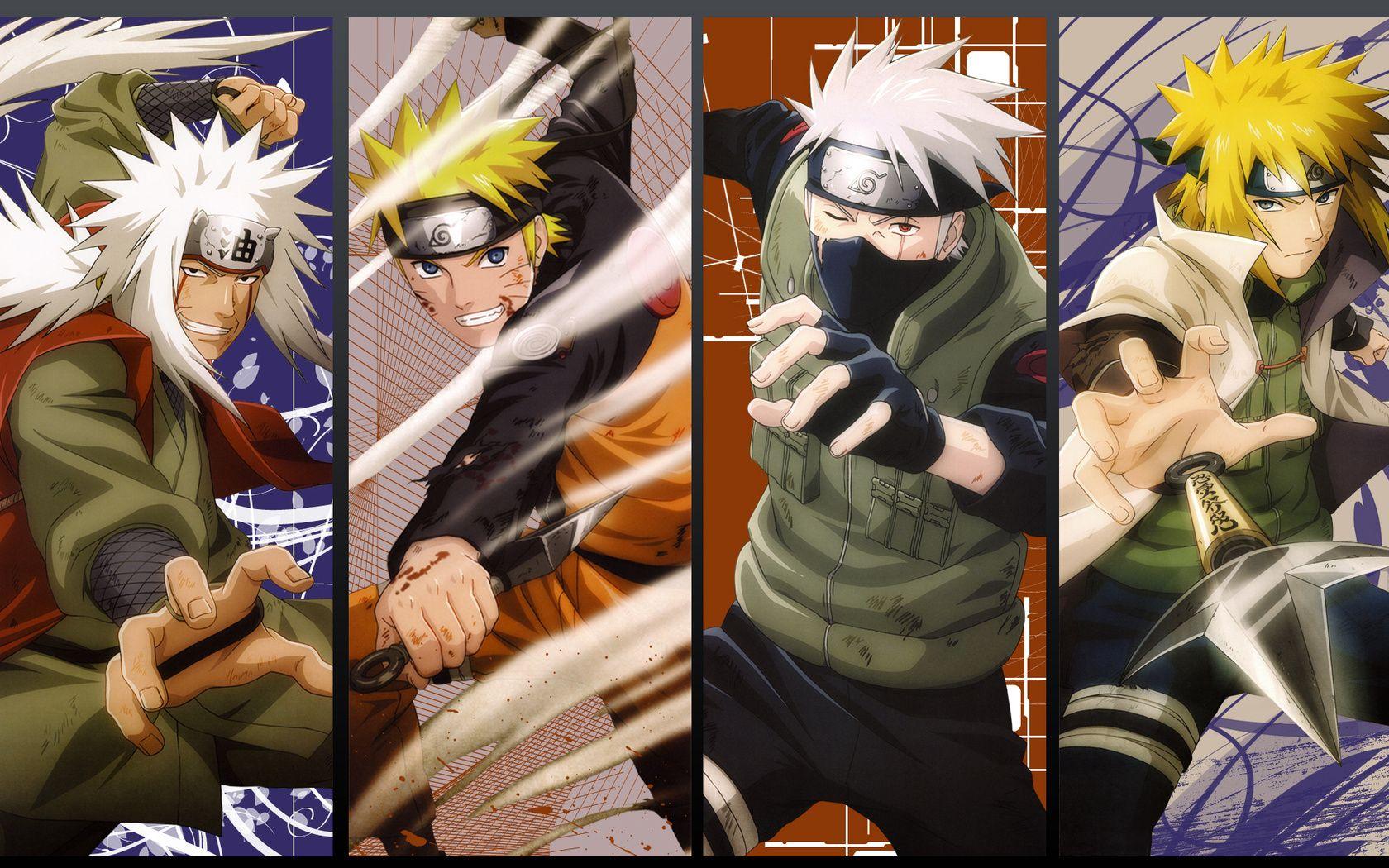 Jiraiya Naruto Kakashi Minato Master Apprentice Naruto Shippuden Wallpaper Jiraya Papel De Parede Naruto Kakashi