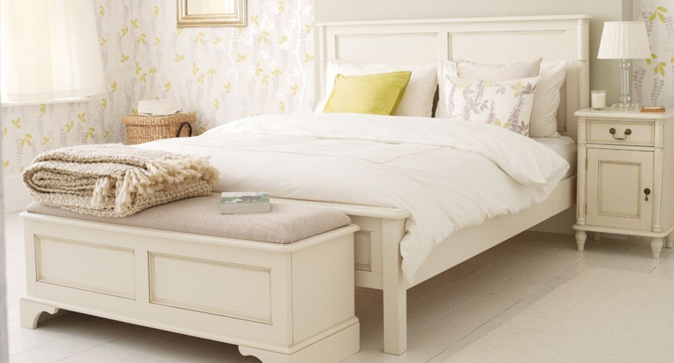Clifton Ivory Bed Frame Furniture Home Home Furnishings