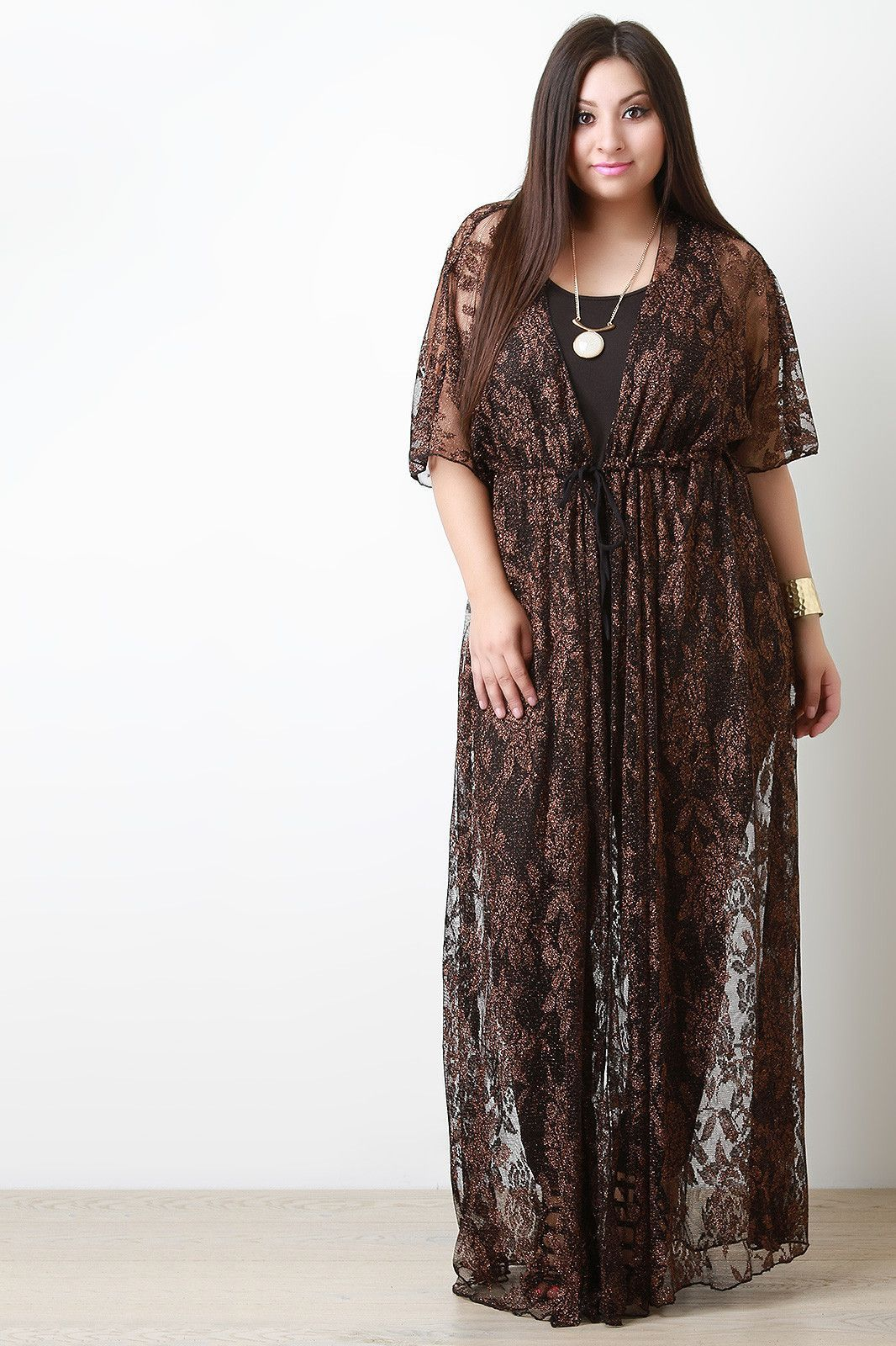 Shimmer lace maxi cover up boudoir clothing ideas pinterest