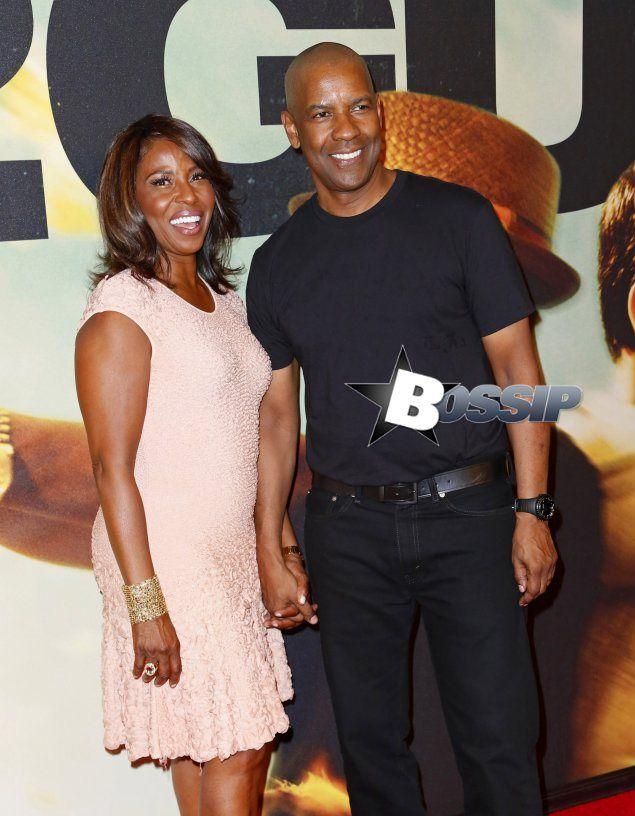 Pauletta And Denzel Washington At 2guns Premiere Gorgeous Long Lasting Couple Black Celebrity Couples Denzel Washington Celebrity Families