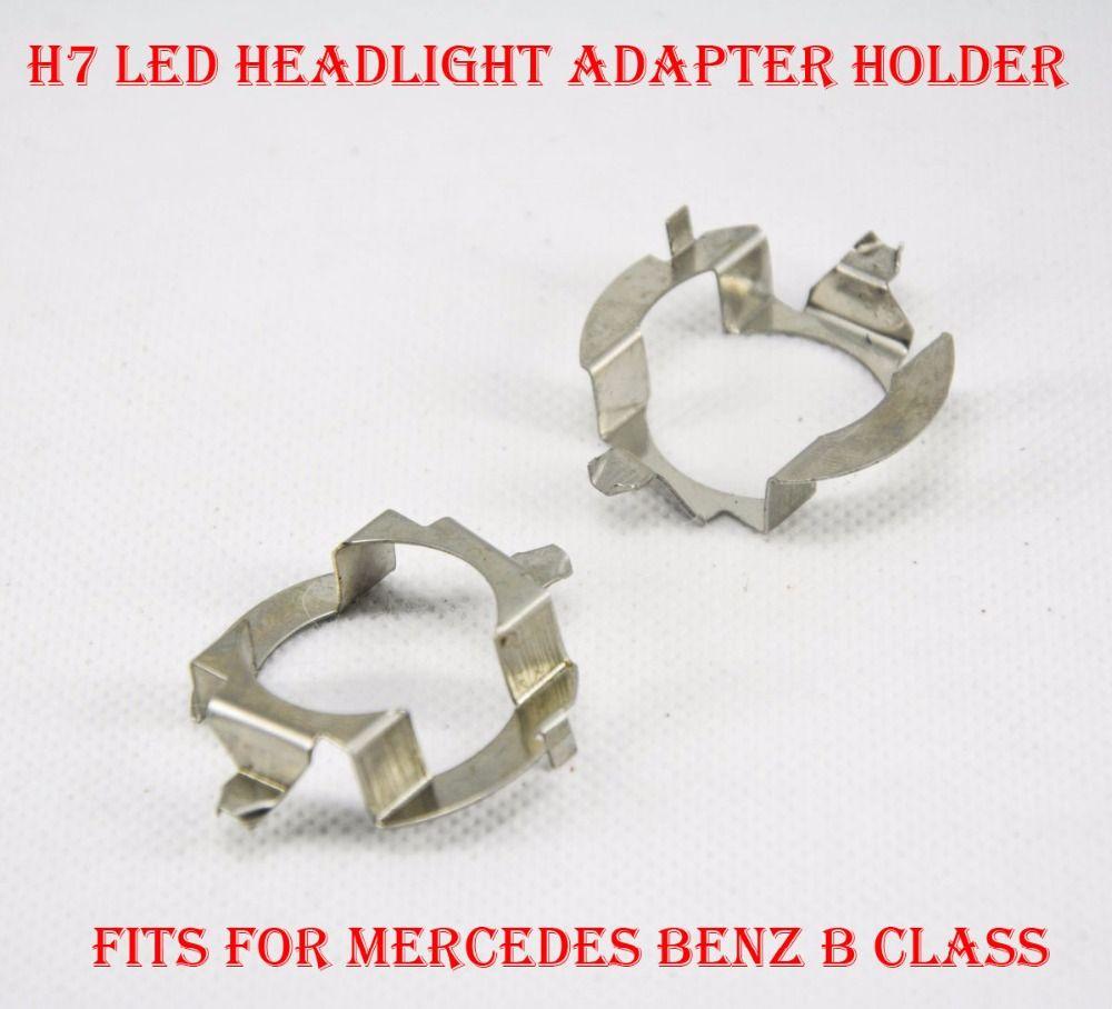 2PCS H7 LED Headlight Conversion Kit Bulb Lamp Holder