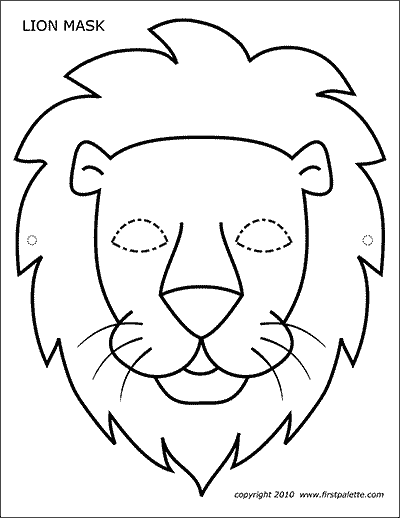 Printable Masks Glasses Free Printable Templates Coloring Pages Firstpalette Com Lion Coloring Pages Lion Craft Animal Mask Templates