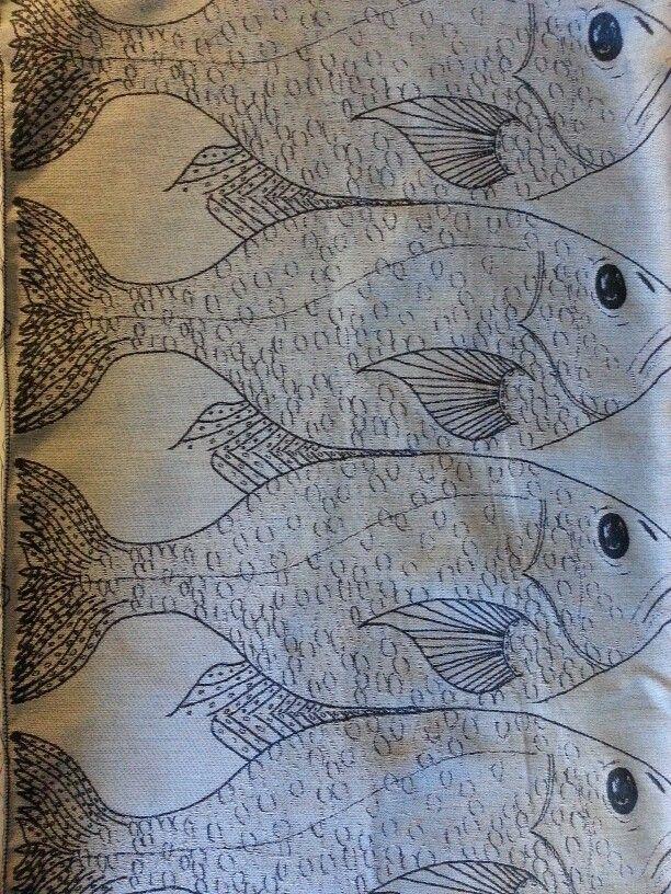 Jacquard sample by jodie pearson  #weave #weaving #fish #jacquard