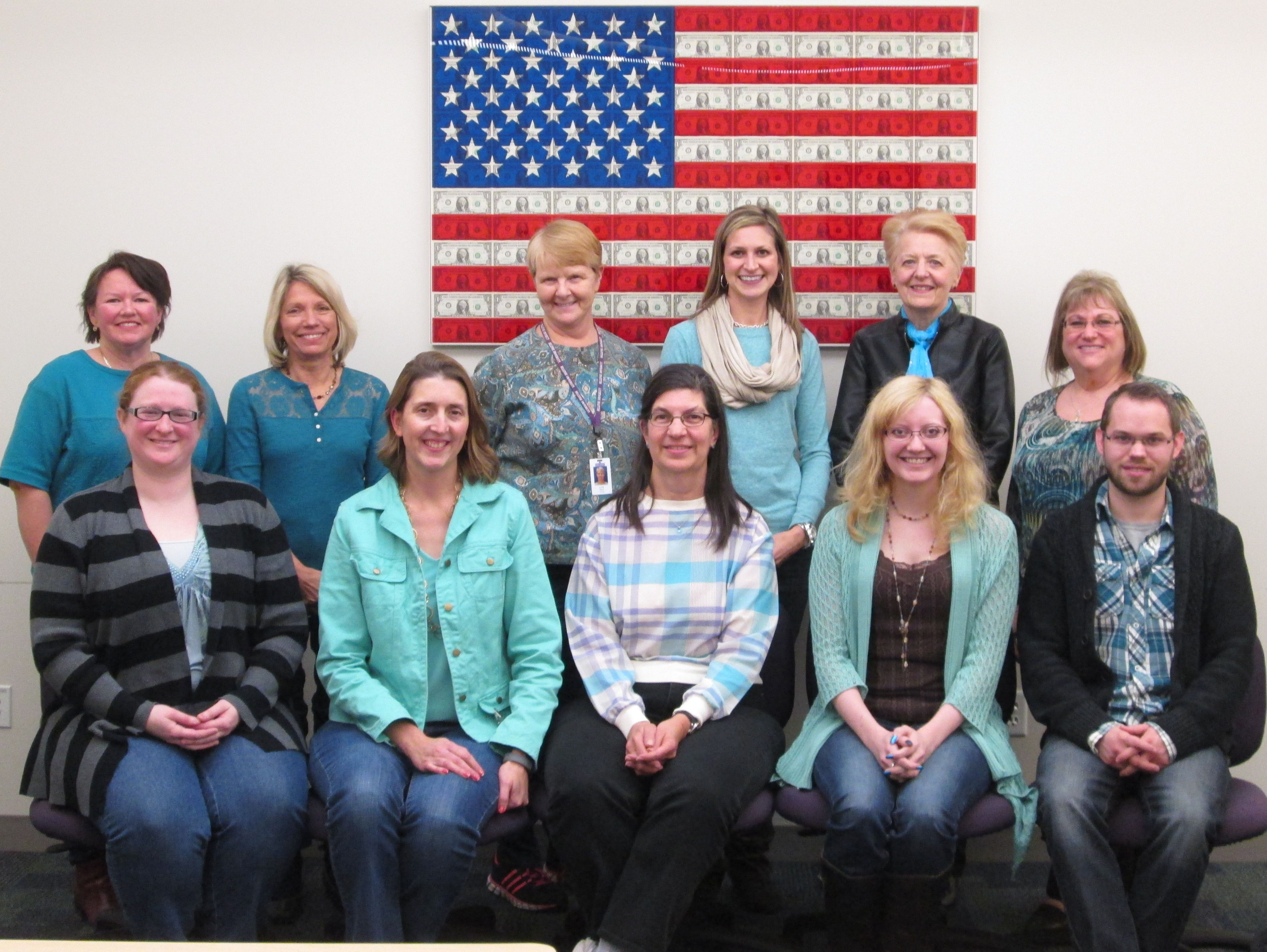 The Bellevue University Staff are showing their support by wearing teal every Wednesday during the month of January to bring awareness to Cervical Cancer Awareness Month.