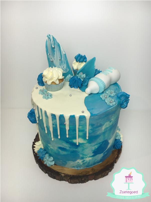 Babyshower Blue Boy Drip Cake Czorcicha Inspiracje