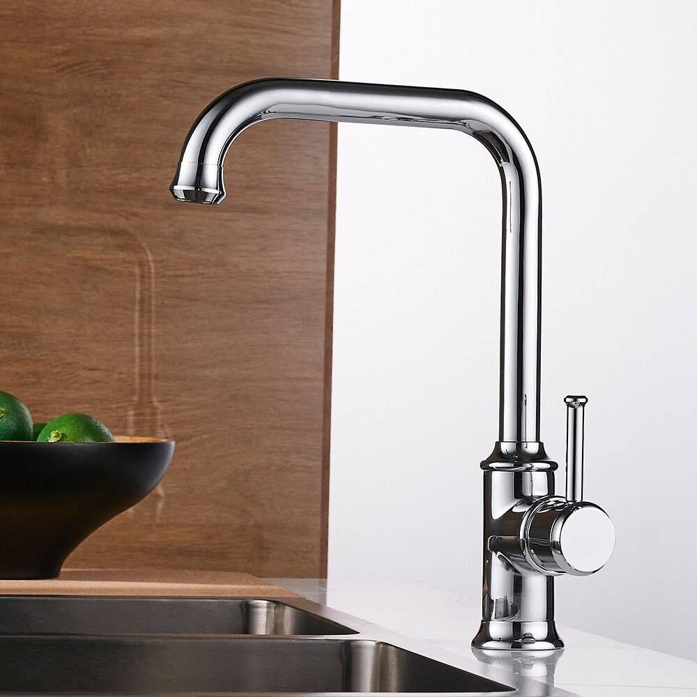 kitchen faucets black color brass crane