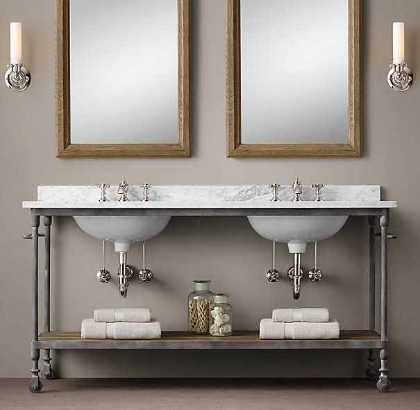Dutch Industrial Double Washstand House Ideas: double sink washstand