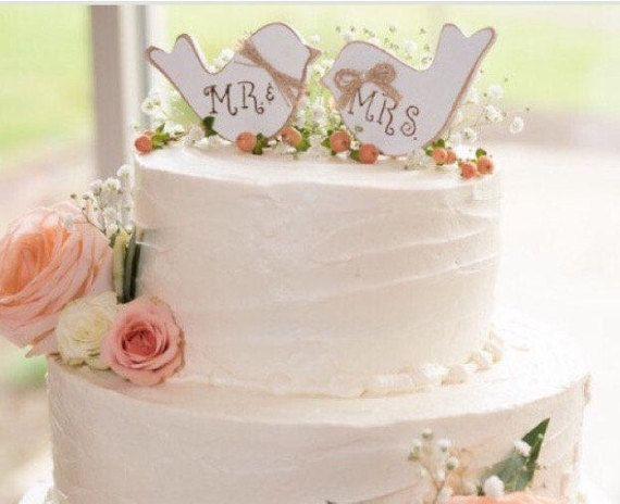 Wedding Cake Topper. Rustic Wedding Cake Topper. Cake Topper.