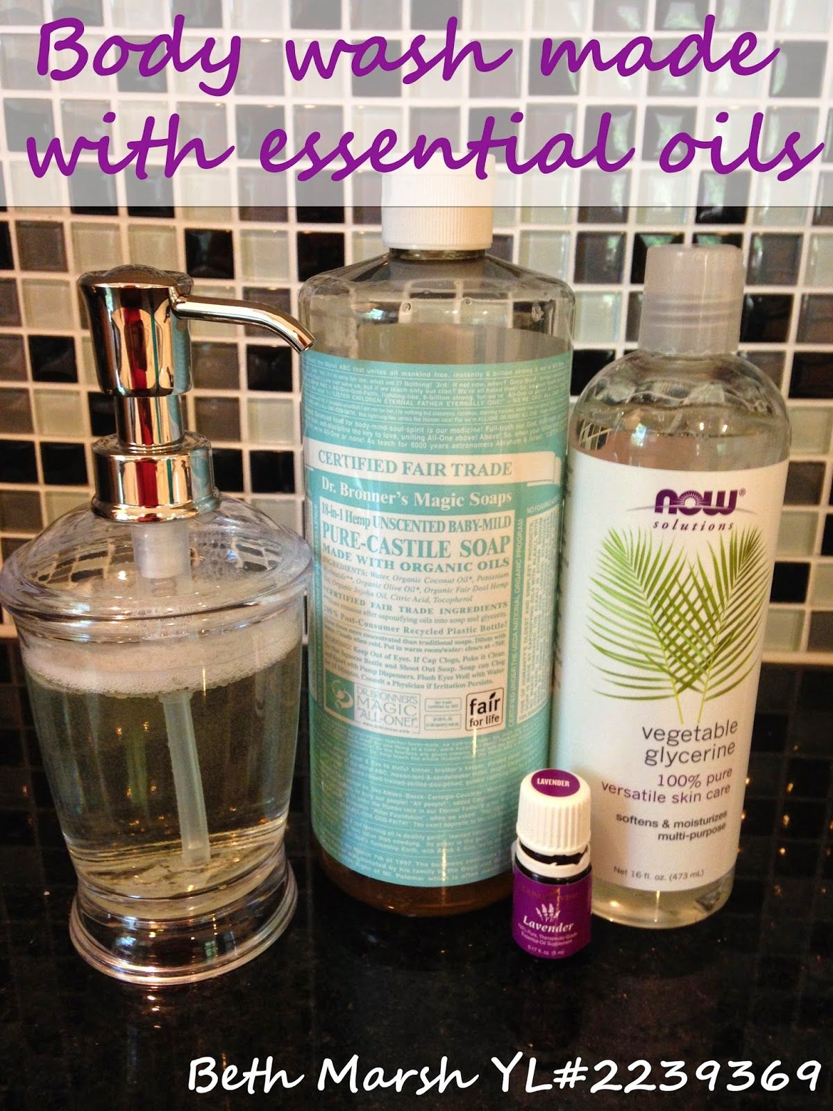 All natural body wash made with essential oils great for