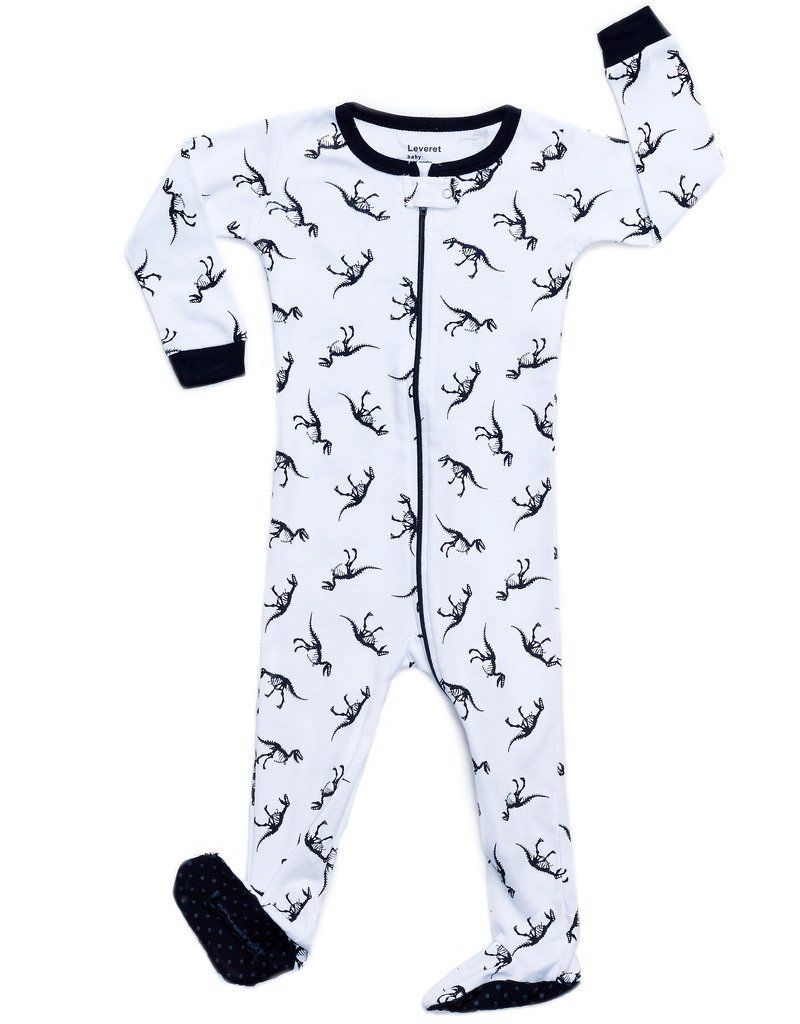 7489a490c Amazon.com  Leveret Little Baby Boys Girls Footed Sleeper Pajama 100 ...