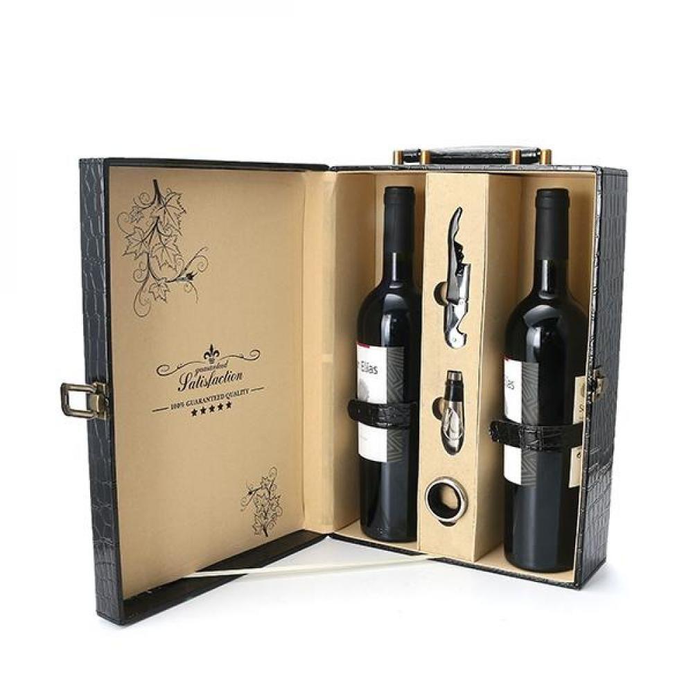 Kcasa Kc Wg03 2 Bottle Wedding Leathern Wine Bottle Gift Box Wedding Bottles Wine Bottle Gift Wine