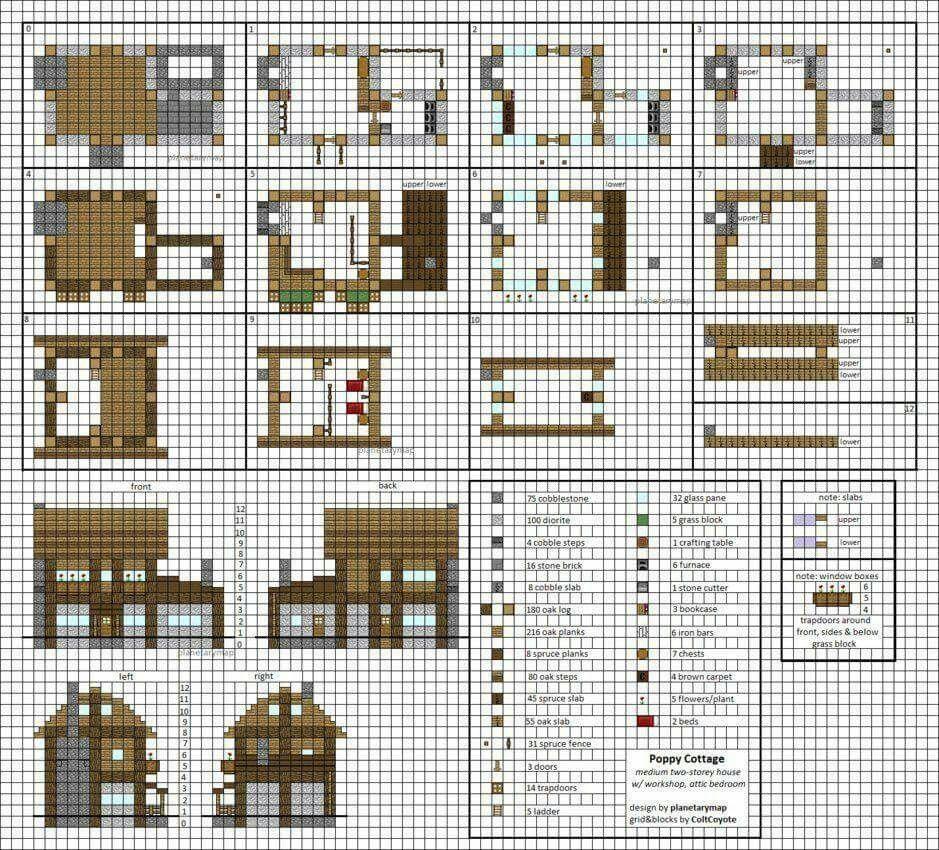 Minecraft Blueprint Minecraft Stuff Pinterest Minecraft Houses
