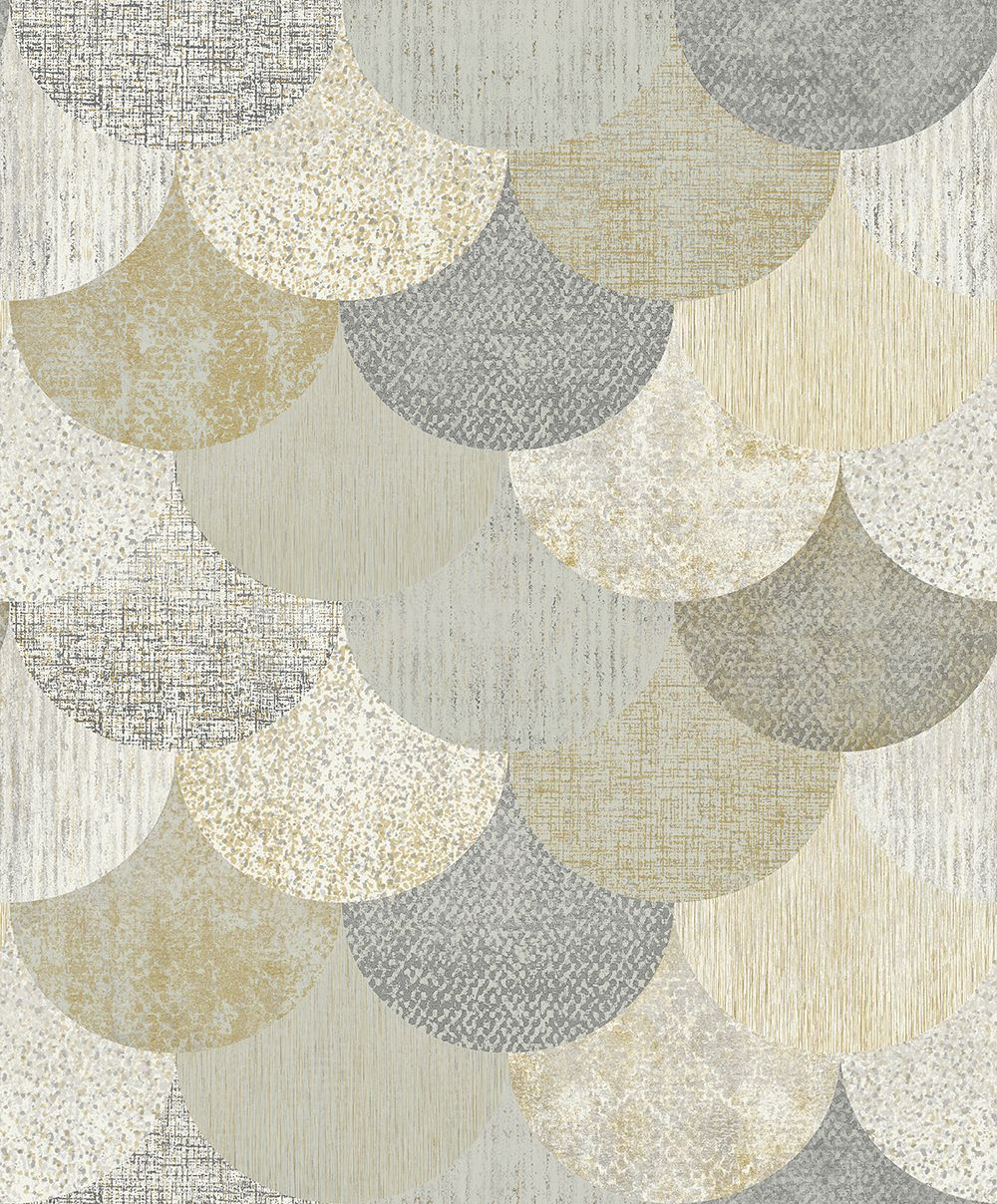 Paxhill by Elizabeth Ockford Grey / Gold Wallpaper