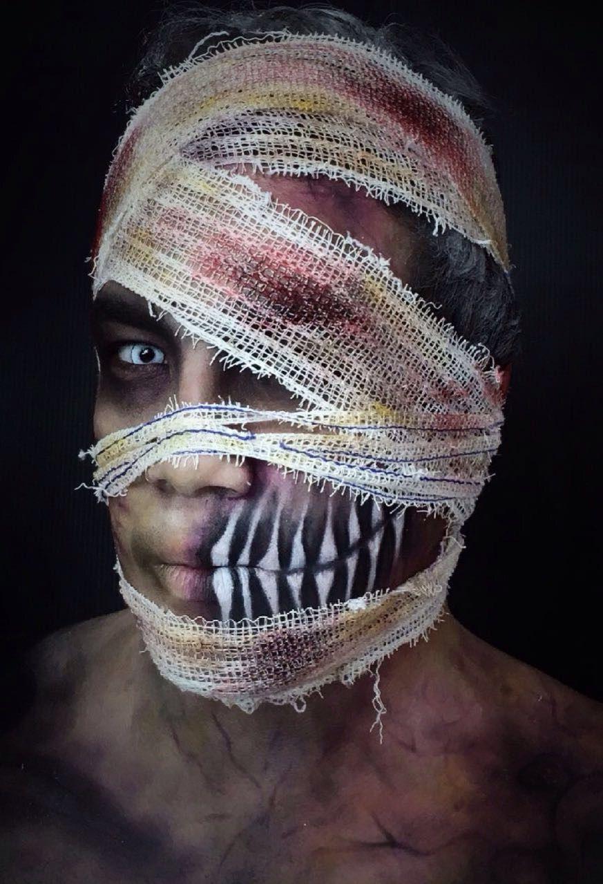 Sexta a noite é dia de...make de Halloween 🎃 A maquiadora