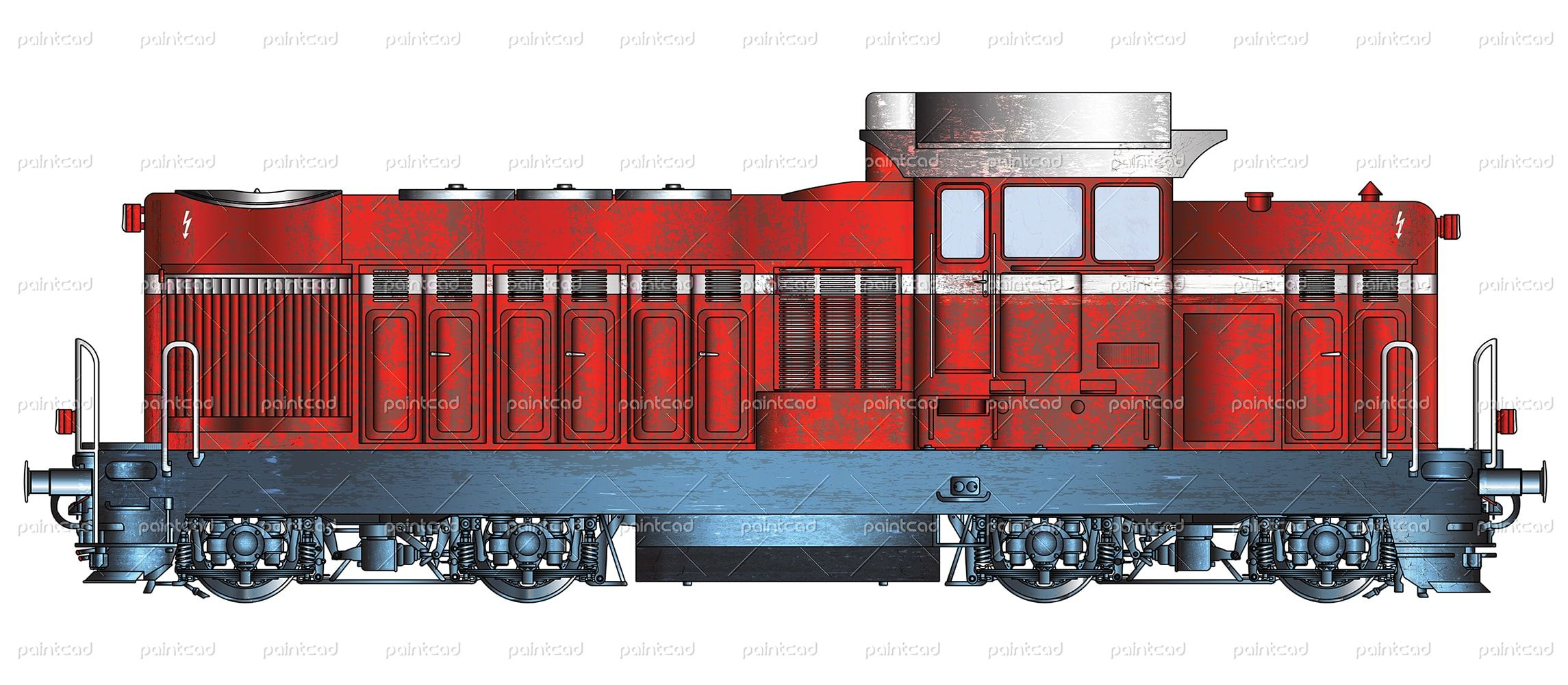 Vector image in high resolution of a bulgarian diesel-hydraulic