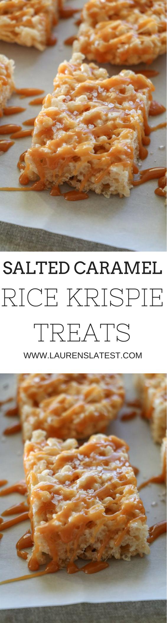 Salted Caramel Rice Krispie Treats...15 minutes to dessert time! (Dessert Recipes Christmas)