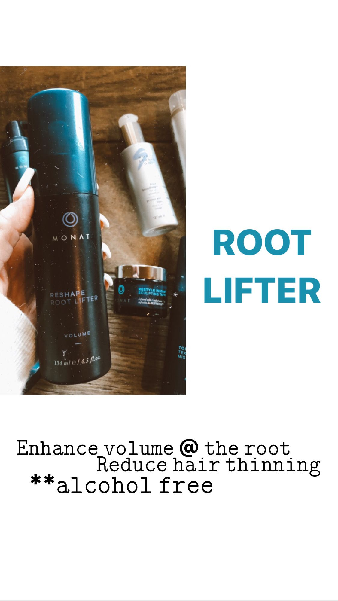 Hair Products Reshape Root Lifter by MONAT Root