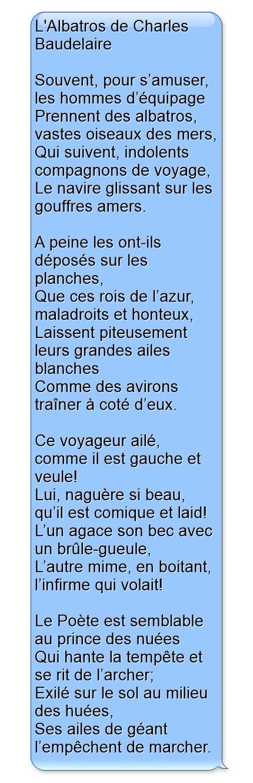Lalbatros De Charles Baudelaire Poeme Et Citation Poésie