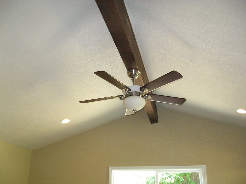 How To Mount A Ceiling Fan To A Beam Google Search Ceiling Fan Fan Beams
