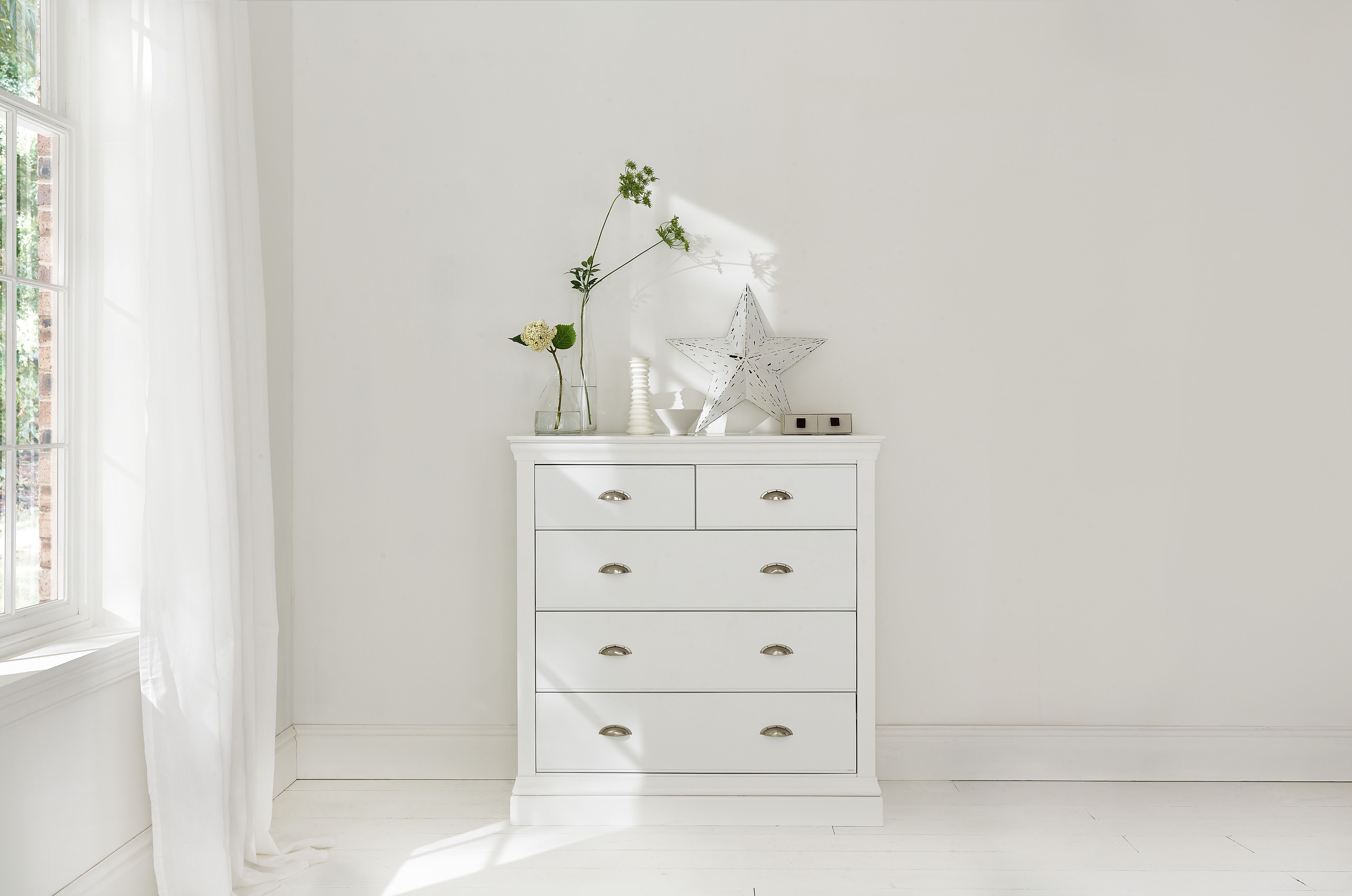 Camden White 3+2 Chest of Drawers £349