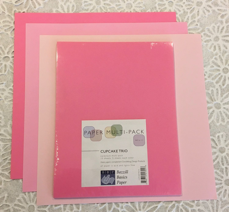 Multi colored cardstock paper - Bazzill Basics 8 5 X 11 Multi Pack Scrapbook Paper Cupcake Trio 15 Pkg