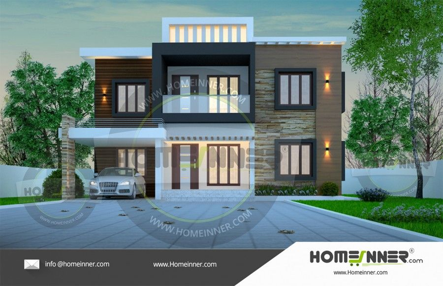 Searching for architectural house plan 2153 sq ft 3 bedroom 4 bath 2 floor then here is a beautiful contemporary style 2153 sq ft home design idea from h