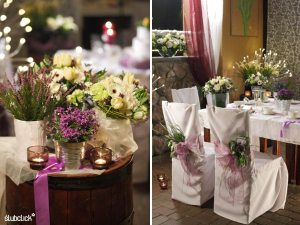 Wrzosowa Dekoracja Sali Na Wesele Paulina S Blog Table Decorations Wedding Decor