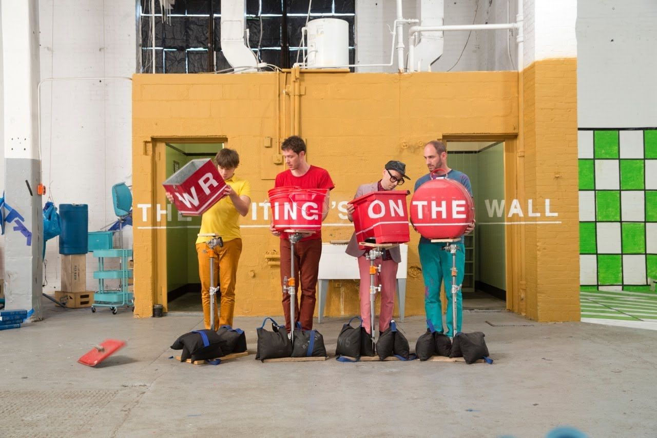 Ok Go The Writing S On The Wall Lyrics An Enthralling Music Video For The Song The Writing S On The Wall By Ok Go That Plays With Angles And Perspectives Ok Go Music Videos Art Music