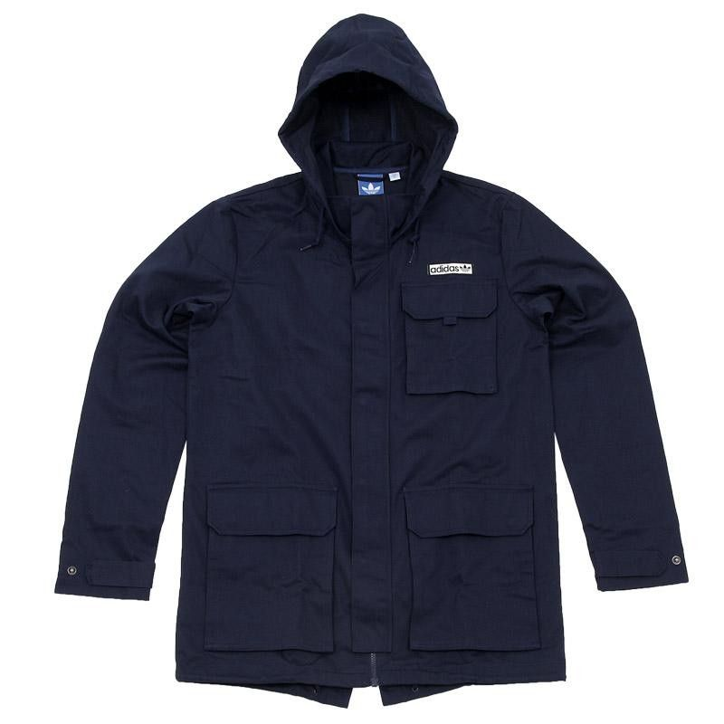 Adidas Fishtail Parka (Dark Indigo) | Clothing & Footwear ...
