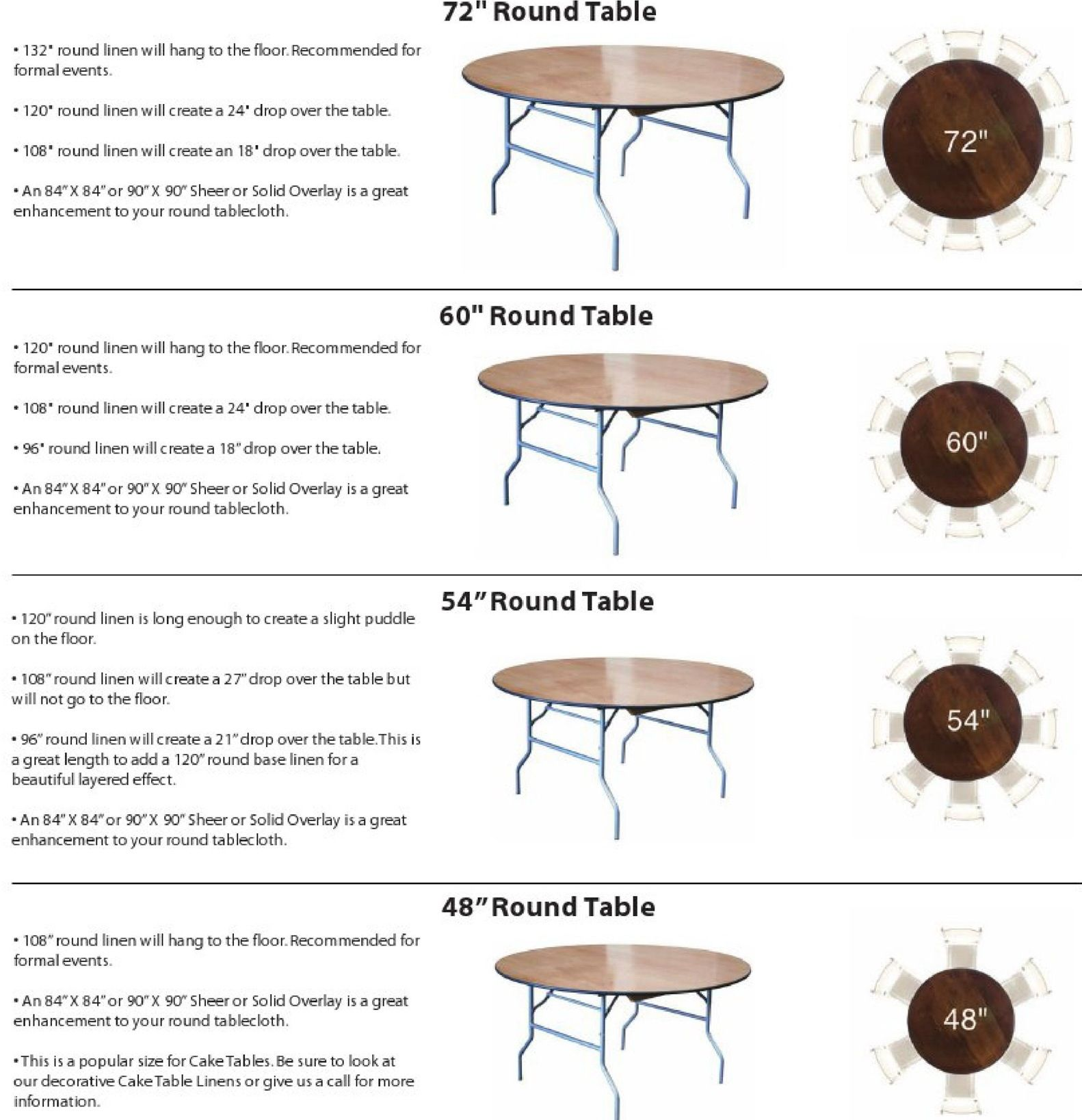 Linen Size For 5ft Round Table