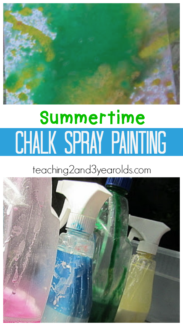 Easy Chalk Spray Paint Recipe #creativeartsfor2-3yearolds Easy Chalk Spray Paint Recipe - Teaching 2 and 3 Year olds #creativeartsfor2-3yearolds