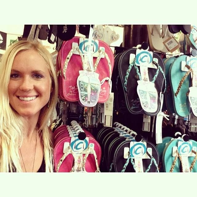Bethany with her Signature Sandals at our CityWalk shop! #bethanyhamilton