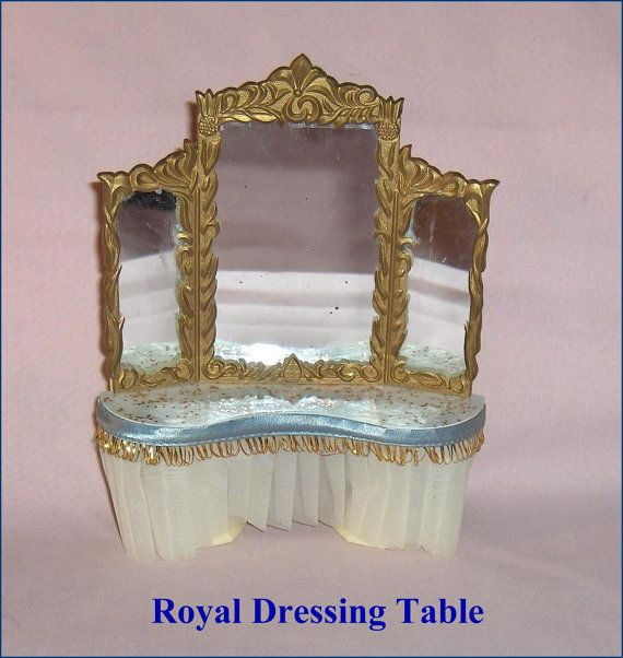 Vintage Dollhouse Furniture For Sale Part - 47: ON SALE Petite Princess Royal Dressing Table Ideal Vintage Dollhouse  Furniture