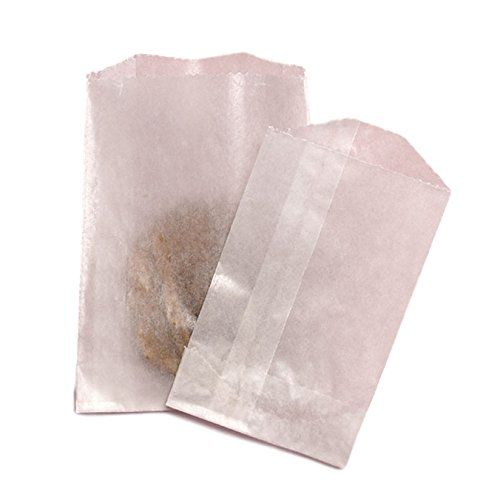 Wax Paper Bags Flat Glassine Lined Paper Gourmet Bags 4 x 7-1//2 in Pack of 100