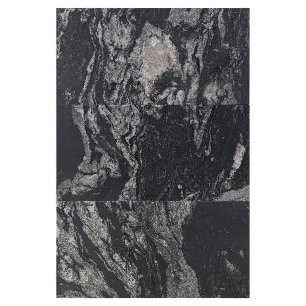 Floor And Decor Granite Tile Nero Athens Vein Cut Brushed Granite Tile  Athens Granite And
