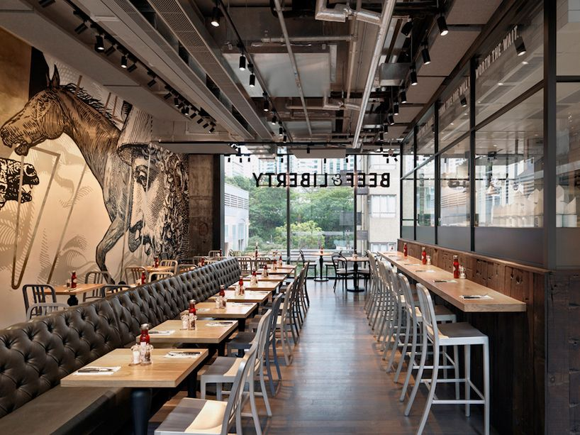 Burger Restaurant Interior : Beef and liberty gourmet burger restaurant hong kong