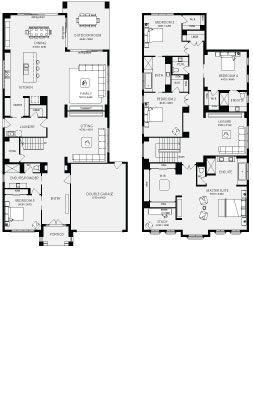 Bordeaux, Unit Floor Plans, Multi Dwelling House Plans
