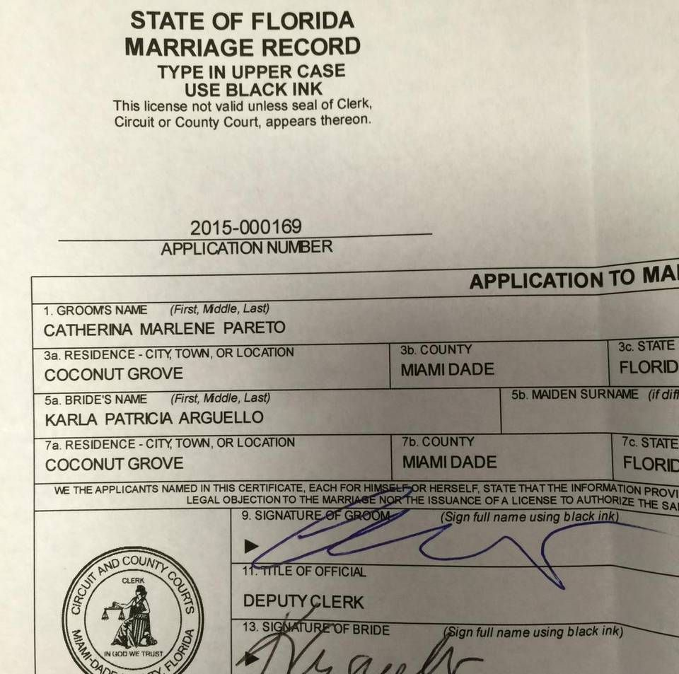 Equality florida state to soon update marriage certificates to equality florida state to soon update legal marriage certificates to read spouse xflitez Gallery