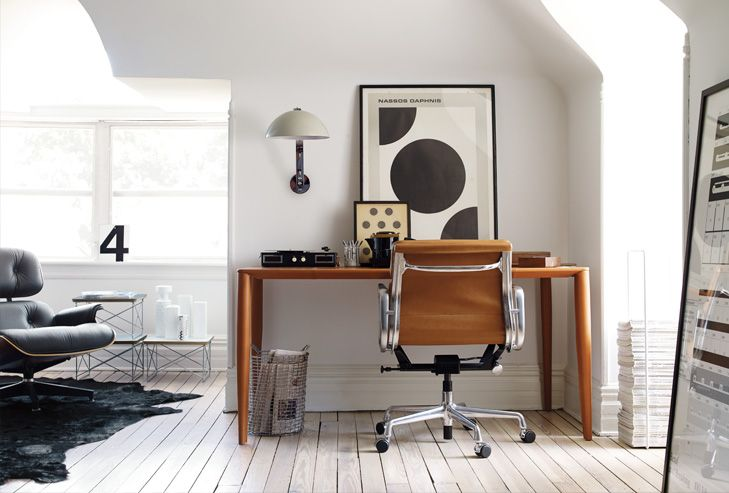 Convert The Attic Partially Into Much Needed Workspace Design