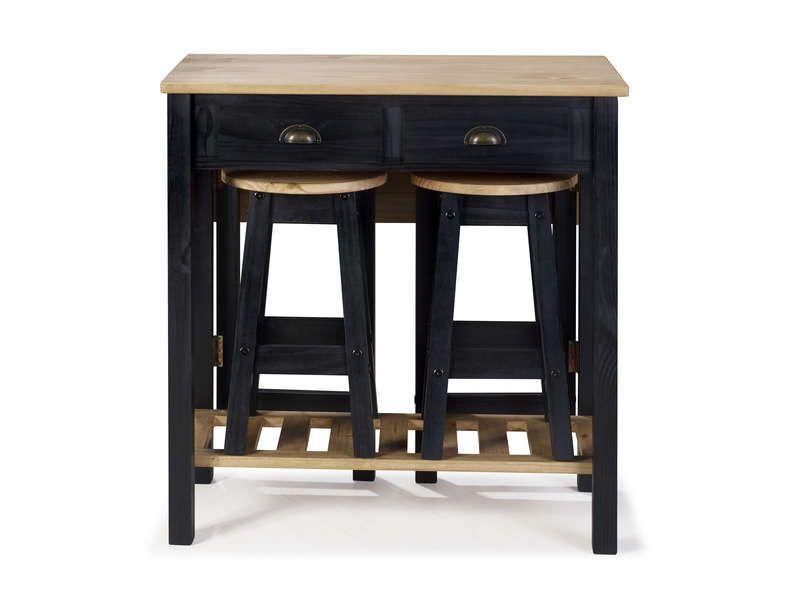 Ensemble Table Pliante 2 Tabourets En Bois Massif 645454 Tabouret Bois Table Pliante Ensemble Table Et Chaise