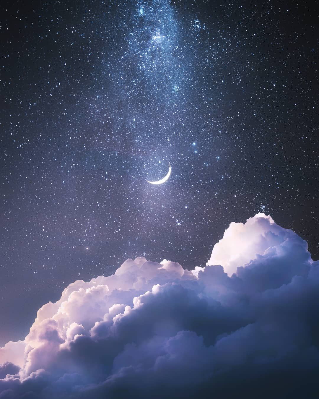 Pin By Valentin Neves On للتصميم Night Sky Wallpaper Sky Aesthetic Moon Photography