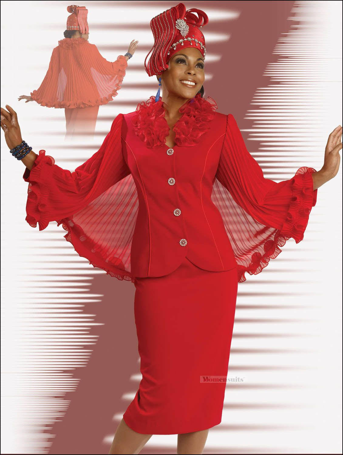 Lady In Red Special Occasion Holiday Church Suit by Donna ...