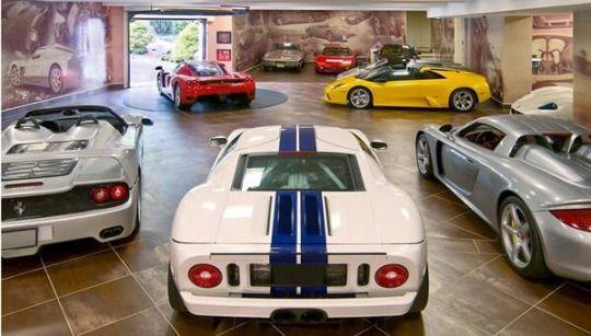Garage Full Of Sports Cars Vehicles Pinterest Luxury - Sports cars garage