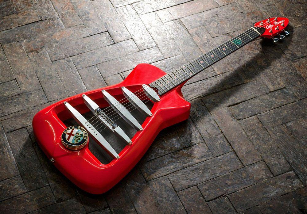 Limited Edition Alfa Romeo Inspired Custom Guitar #customguitars