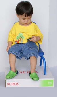 Place the legs of a chair through a box to provide foot support and decrease fidgeting. Oh, hey, genius! - Re-pinned by @PediaStaff – Please Visit http://ht.ly/63sNt for all our pediatric therapy pins