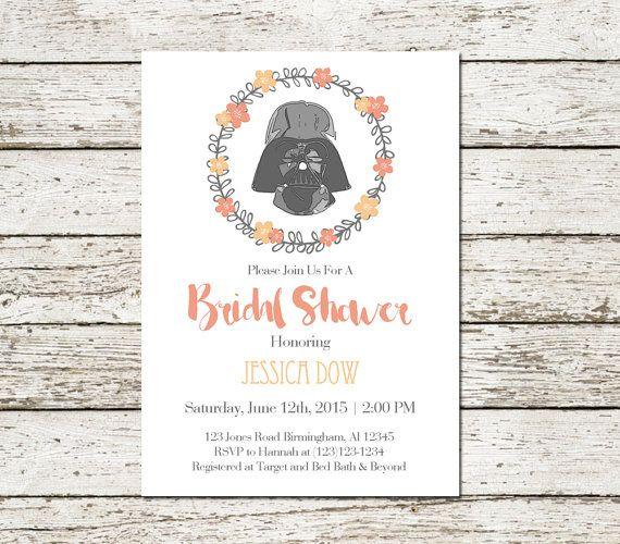 Star Wars Bridal Shower Invitation Wedding by SweetTeaAndACactus - printable bridal shower invites
